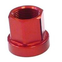 BP GENERAL-ALLOY HUB AXLE NUT - M14, Flange Type, Red