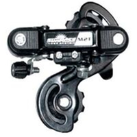 SUNRACE-REAR DERAILLEUR - 6/7 Speed, Short Cage, Indexed, w/o bracket, Black