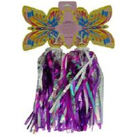 BP GENERAL-STREAMERS  Laser Finish with Sequins,SILVER PURPLE (Butterfly)(2795)