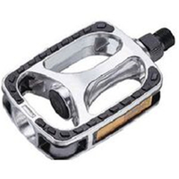"BP GENERAL-PEDALS  9/16"" City/Comfort, Alloy, SILVER/BLACK"