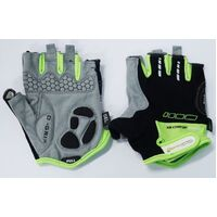 BP GENERAL-Gloves, , Amara Material,GEL PADDING, L, BLK with Green trim(6940)