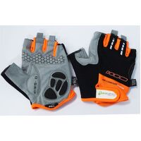 BP GENERAL-Gloves,  Amara Material, GEL PADDING, L, BLK with Orange trim(6943)