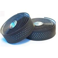 BP GENERAL-Handlebar Cushion Tape, Black Microfibre + White gel, w Plugs(8697)