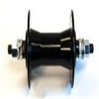 BP GENERAL-HUB  Front, Nutted, BMX alloy axle 3/8 BLACK 36Hole 100mm OLD(96809)