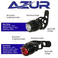 Aaur USB Cyclops Bike Light Set Alloy Body