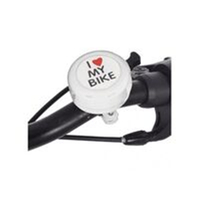 PROSERIES-I Love My Bike Bell White, fits 22.2mm diameter handlebar, White - Oxford Product