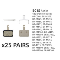 BR-MT400 DISC BRAKE PADS B01S RESIN  25 PAIRS