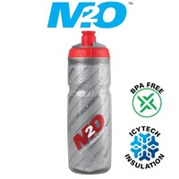 M2O-Pilot Water Bottle - 620ml - Smoke/Red - Insulated(M2OWBPIOIN6SR)