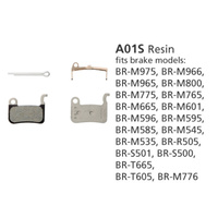 BR-M775 DISC BRAKE PADS A01S RESIN 25 PAIRS ( out of stock )